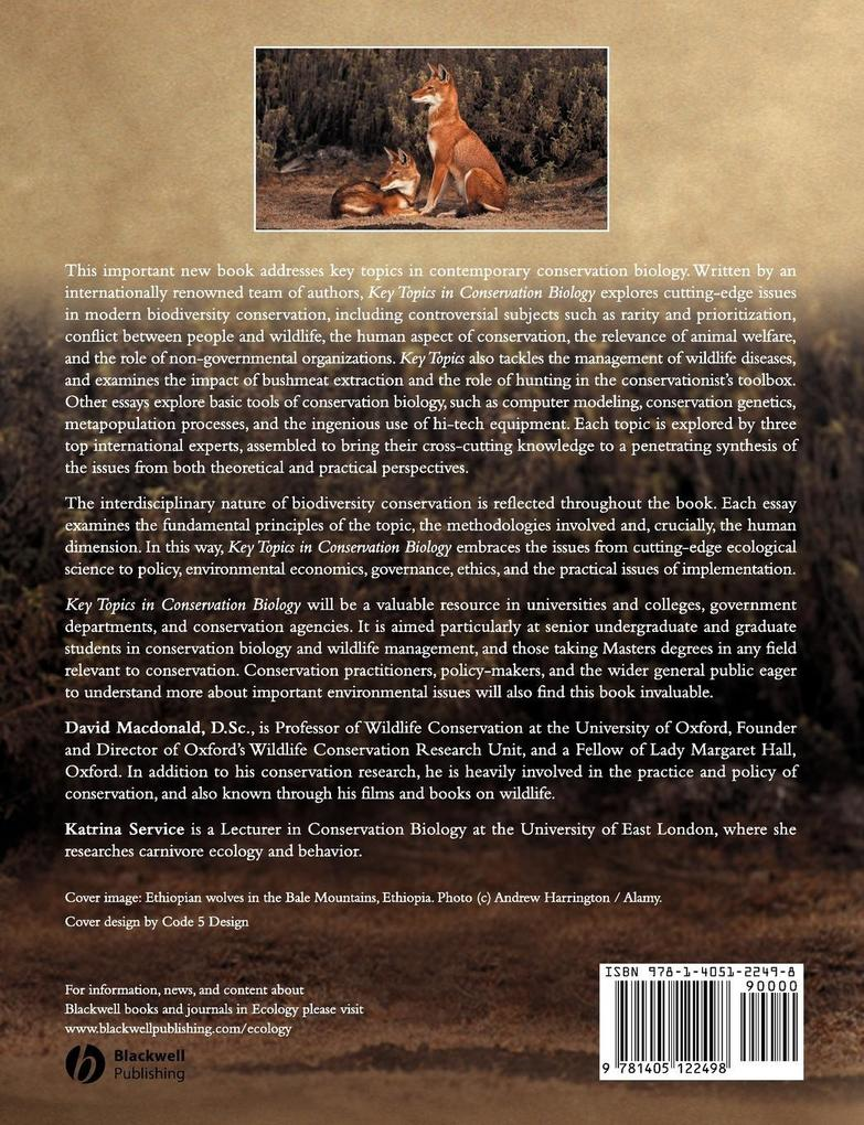 Key Topics in Conservation Biology als Taschenbuch
