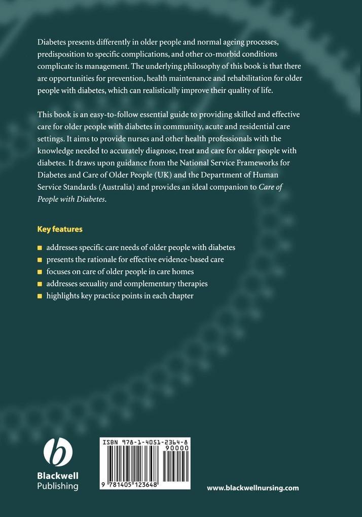 Nursing Care Older People with Diabetes als Taschenbuch