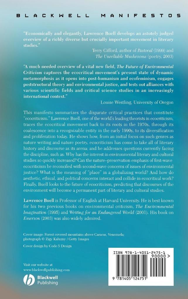 Future of Environmental Criticism als Buch