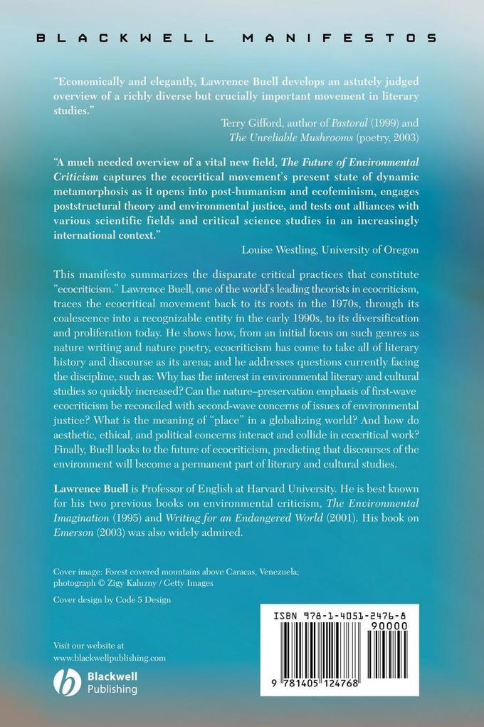 Future of Environmental Criticism als Taschenbuch