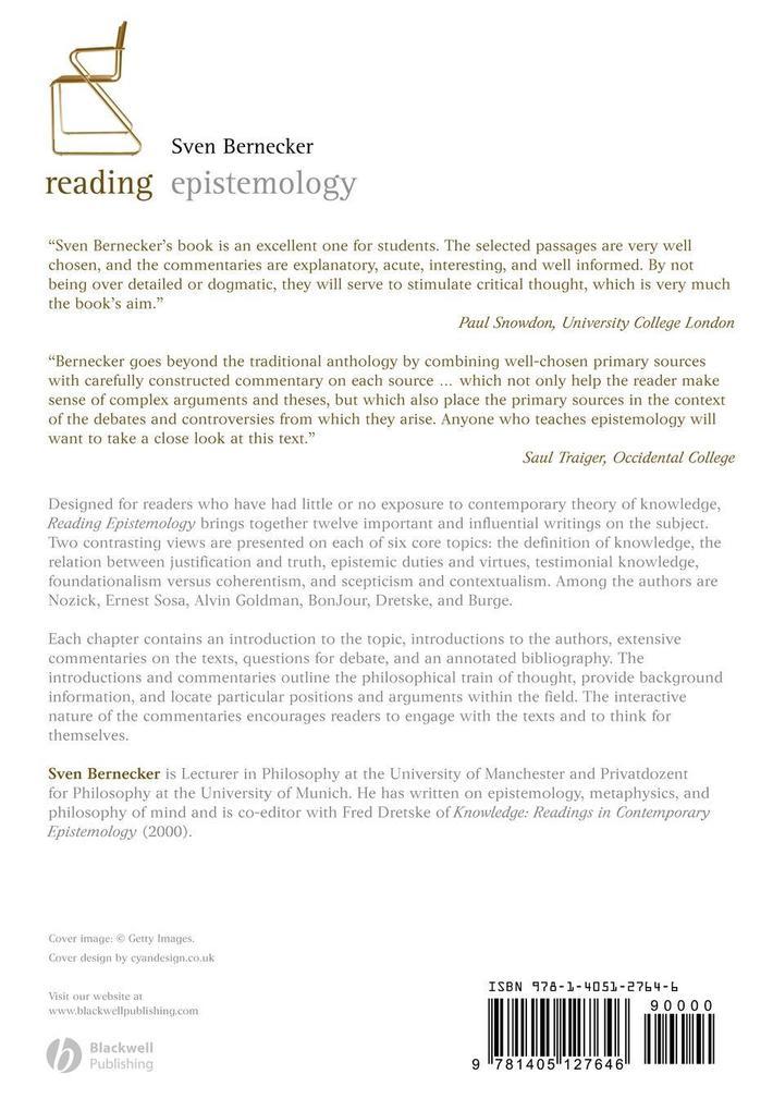 Reading Epistemology als Taschenbuch