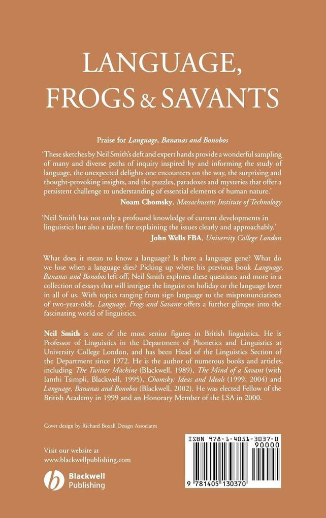 Language, Frogs and Savants als Buch