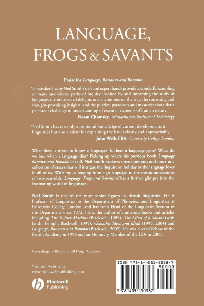 Language, Frogs and Savants als Taschenbuch