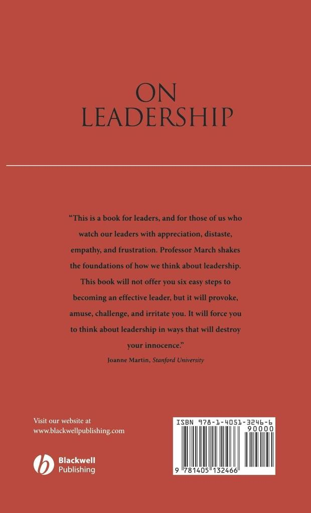 On Leadership als Buch