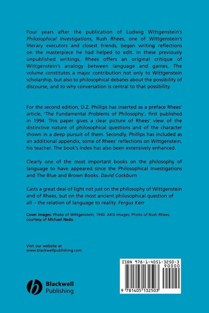 Wittgenstein Discourse als Taschenbuch