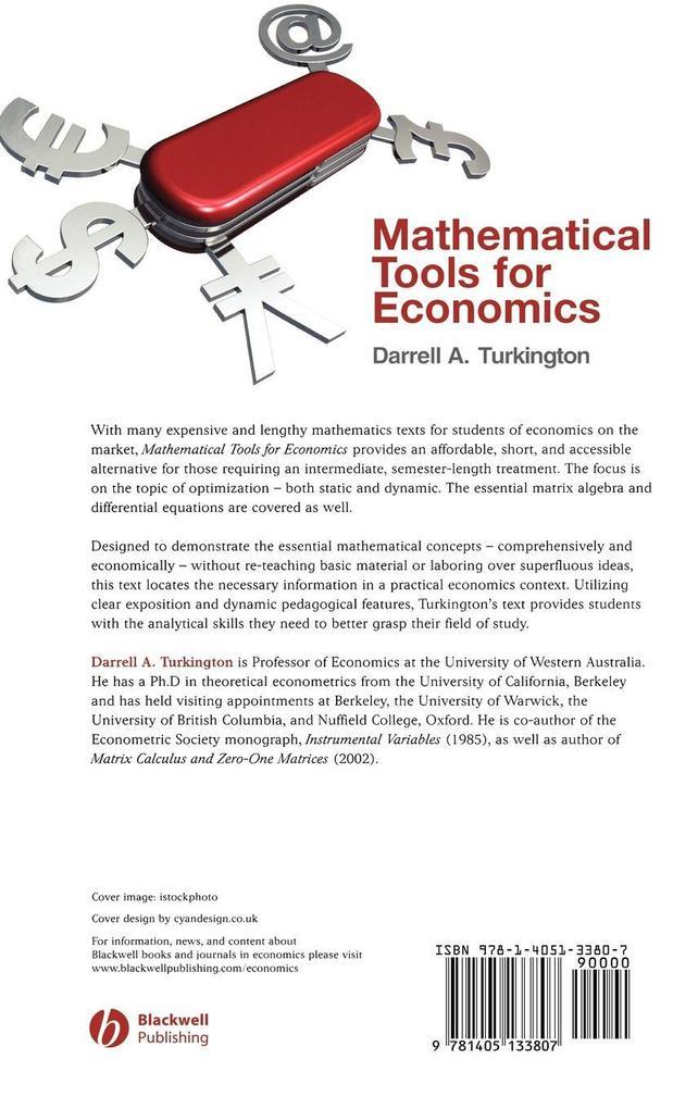 Mathematical Tools for Economics als Buch