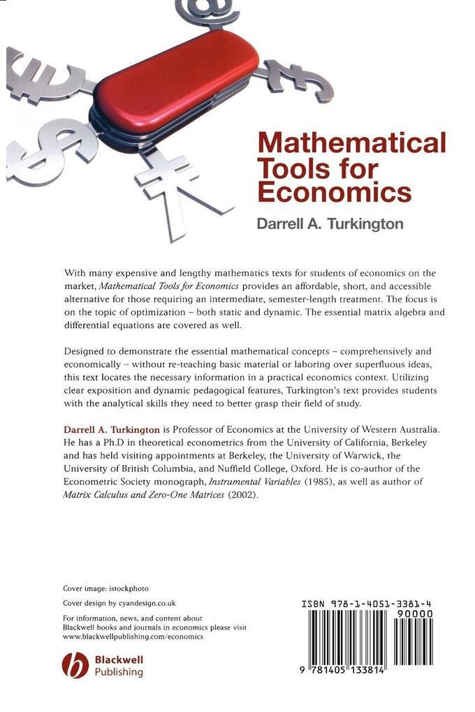Mathematical Tools for Economics als Taschenbuch