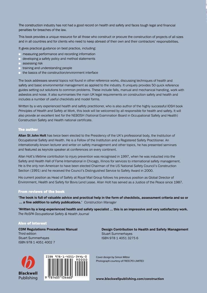 Principles of Construction Safety als Taschenbuch