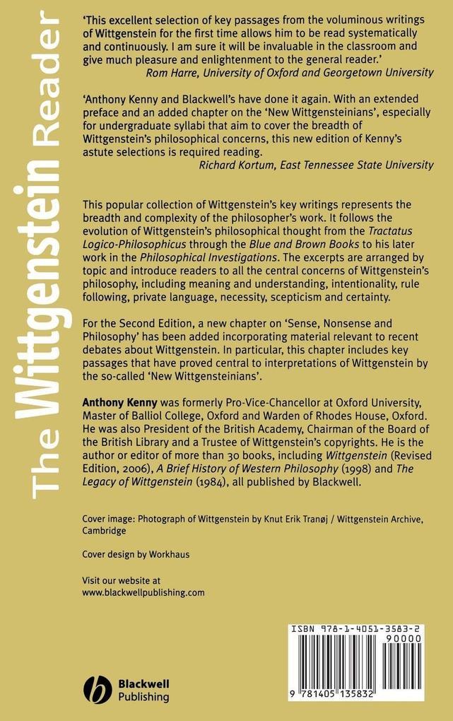 Wittgenstein Reader 2e als Buch
