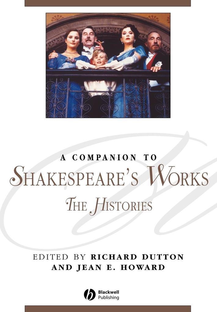 A Companion to Shakespeare's Works als Taschenbuch