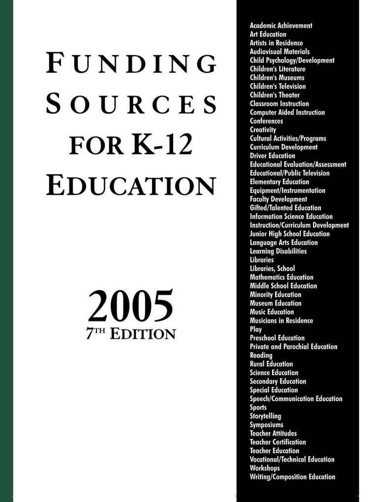 Funding Sources for K-12 Education 2005, 7th Edition als Taschenbuch