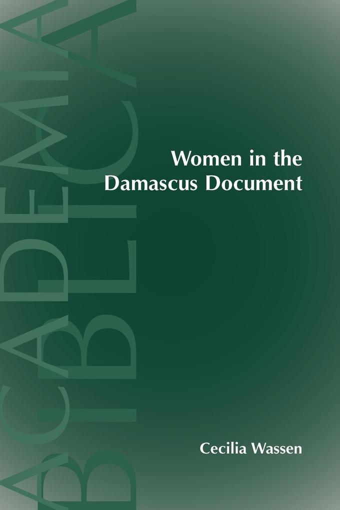 Women in the Damascus Document als Taschenbuch