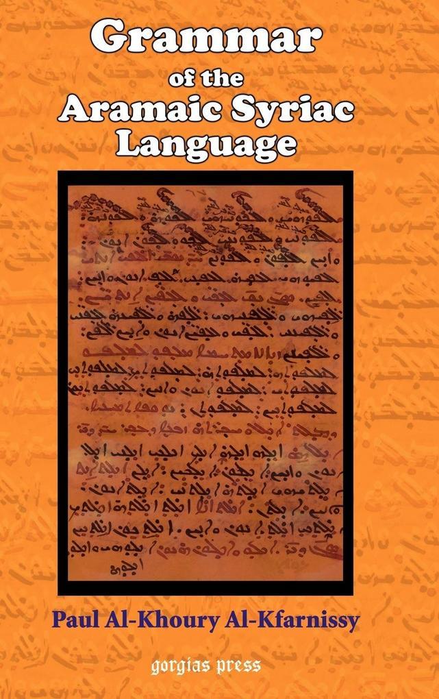 Grammar of the Aramaic Syriac Language als Buch