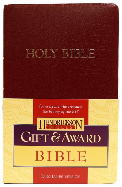 KJV Gift and Award Bible - Burgundy als Taschenbuch