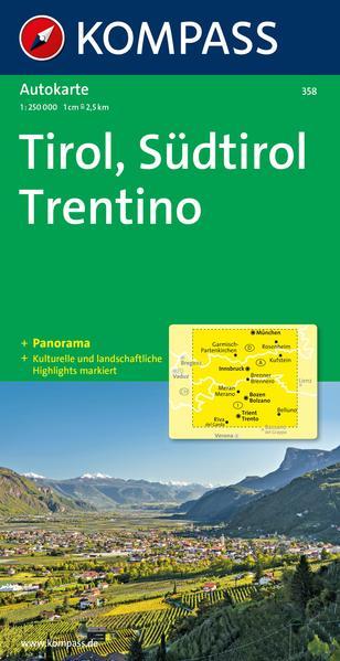 Tirol - Südtirol - Trentino - Panorama 1 : 250 000 als Buch
