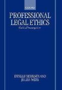 Professional Legal Ethics: Critical Interrogations als Buch