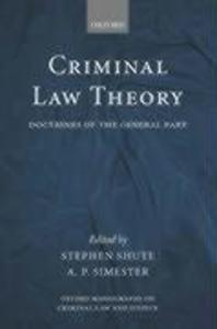 Criminal Law Theory: Doctrines of the General Part als Buch