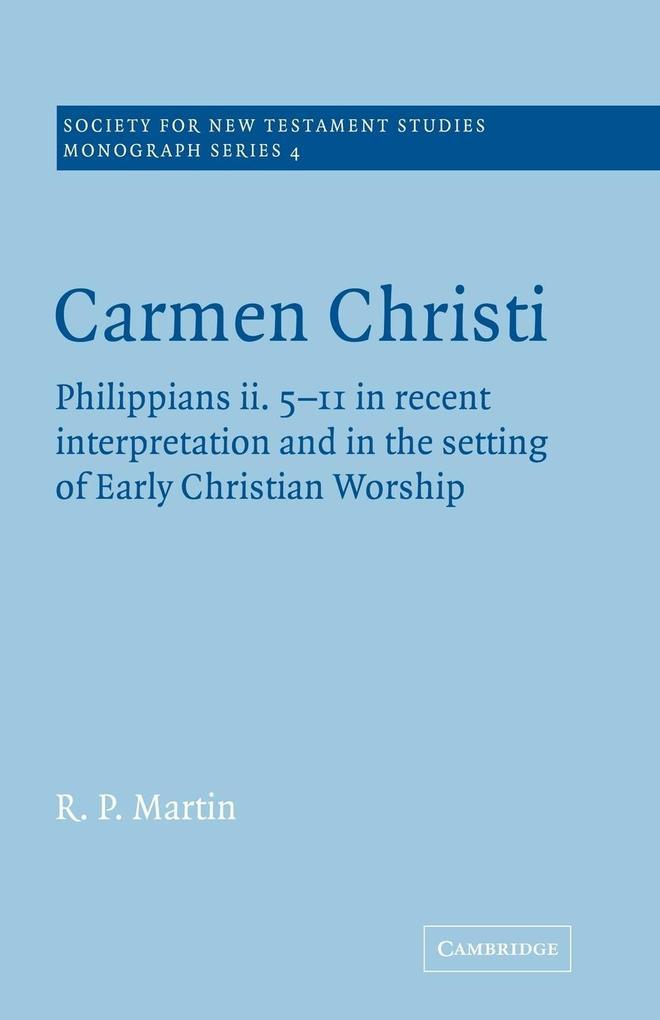 Carmen Christi als Taschenbuch