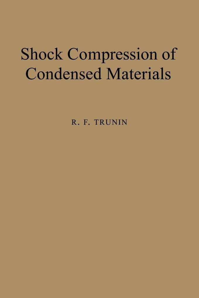 Shock Compression of Condensed Materials als Buch