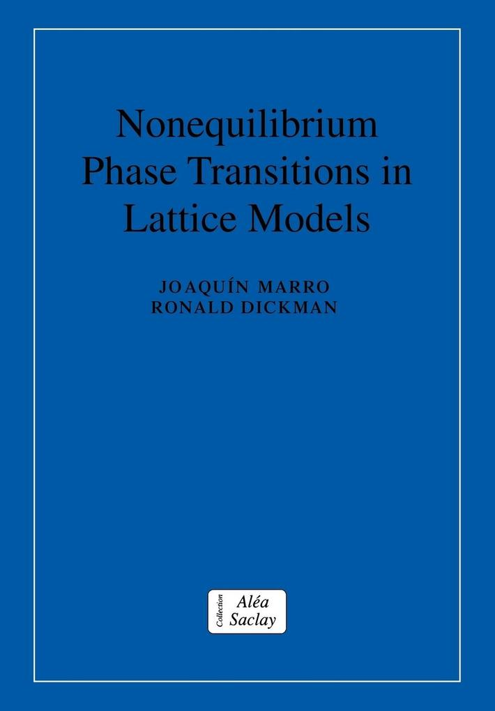 Nonequilibrium Phase Transitions in Lattice Models als Buch