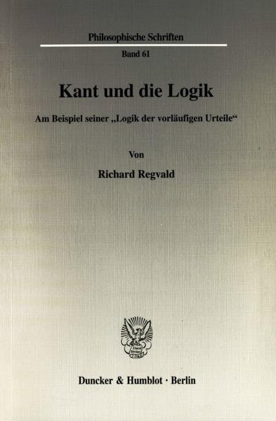 Kant und die Logik als Buch