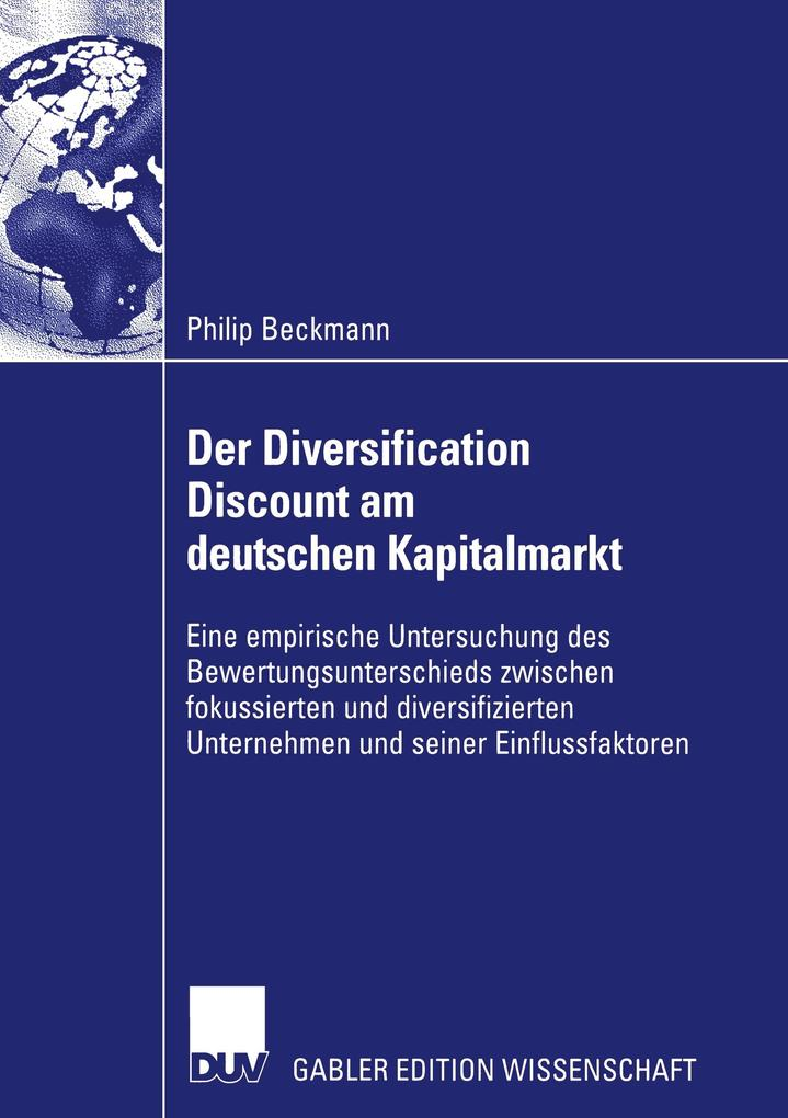 Der Diversification Discount am deutschen Kapitalmarkt als Buch