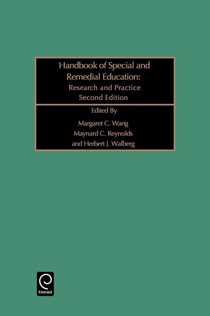 Handbook of Special and Remedial Education als Buch