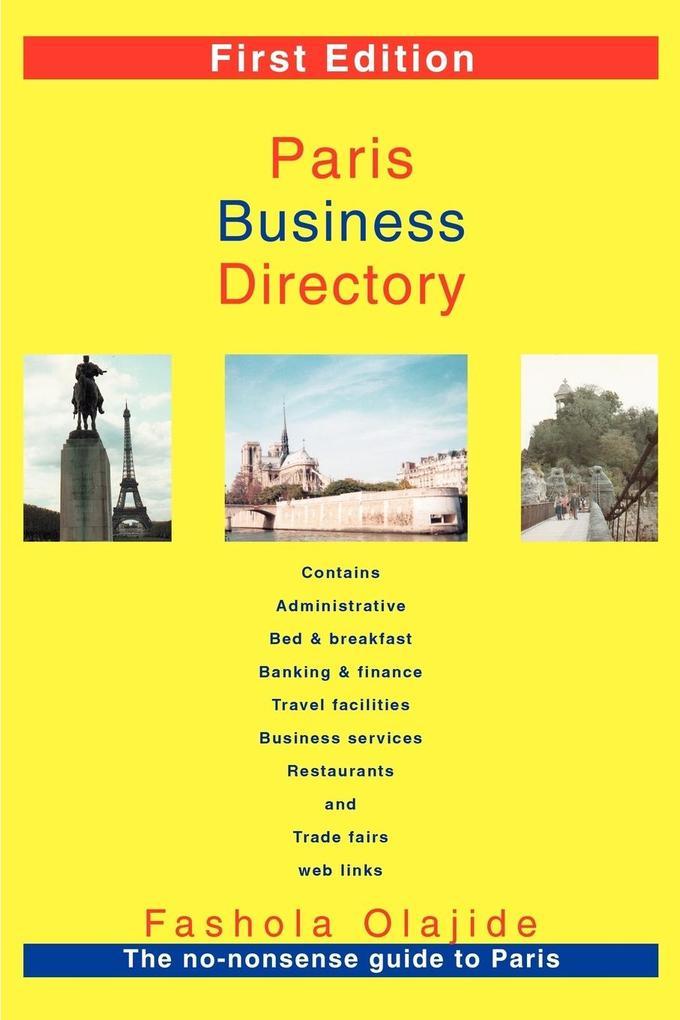 Paris Business Directory als Taschenbuch