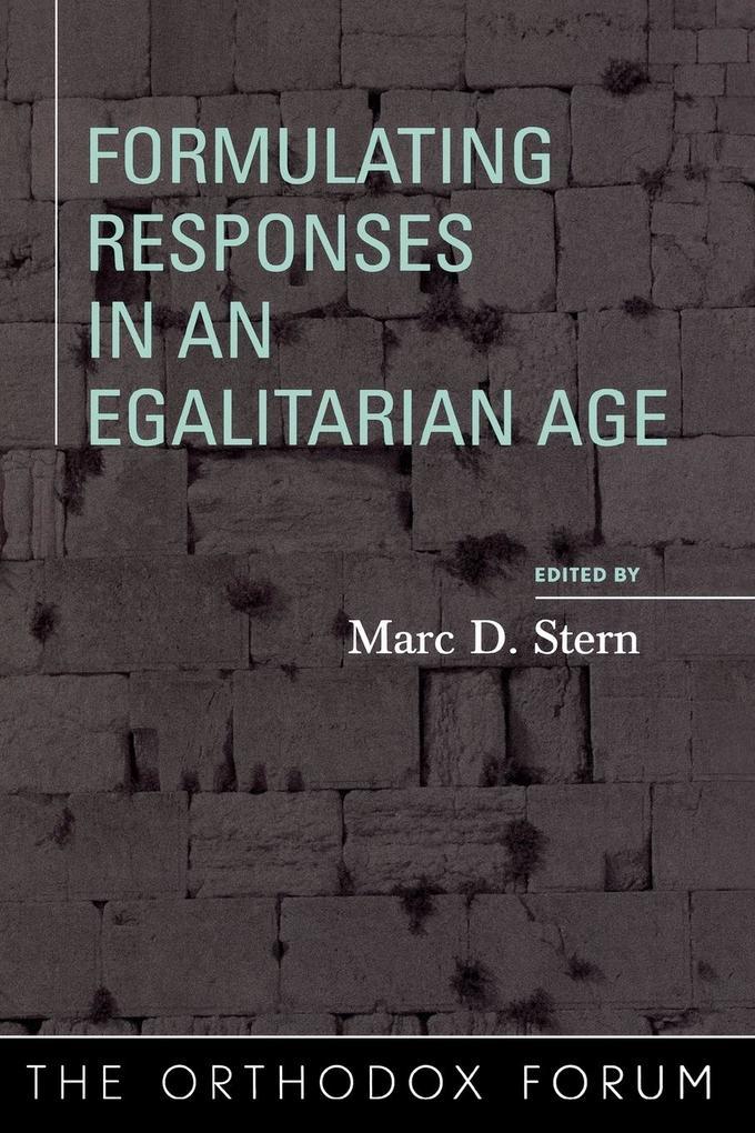 Formulating Responses in an Egalitarian Age als Taschenbuch