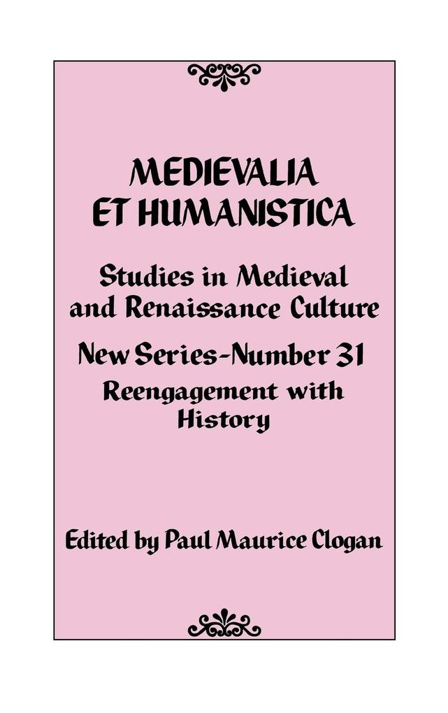 Medievalia Et Humanistica No. 31: Studies in Medieval and Renaissance Culture als Buch