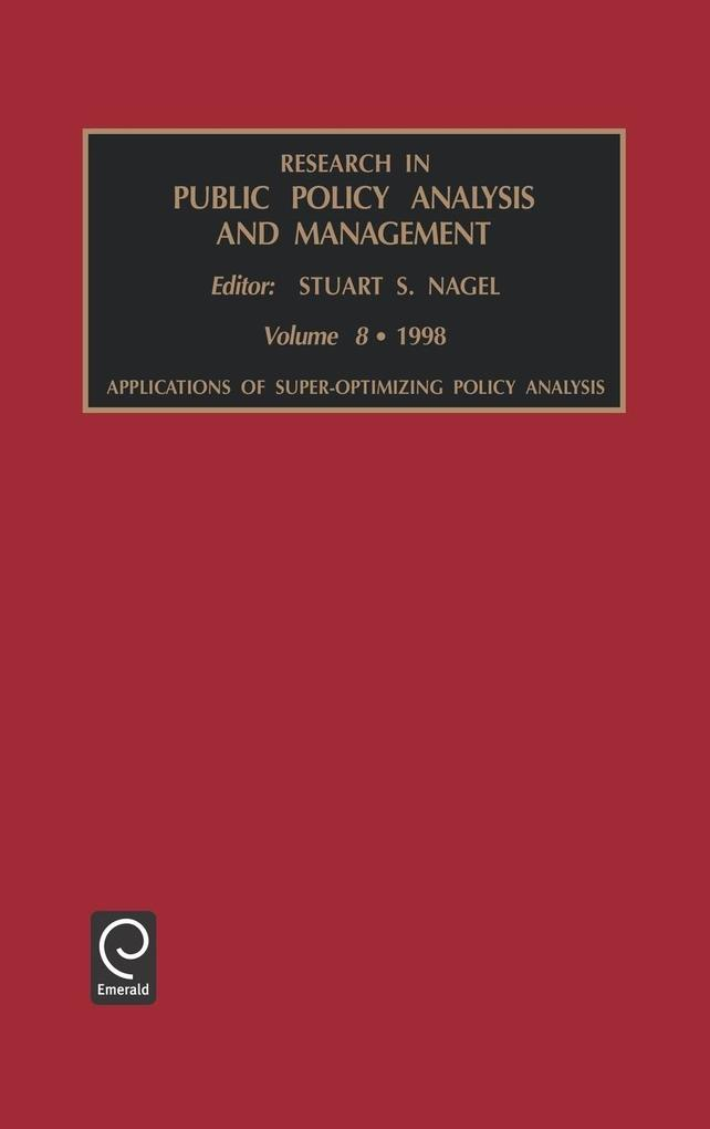 Research in Public Policy Analysis and Management als Buch