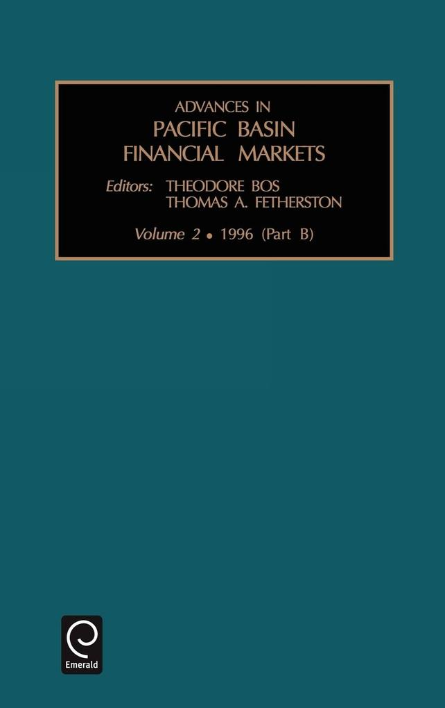 Advances in Pacific Basin Financial Markets als Buch