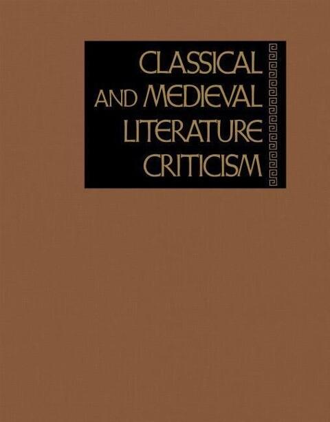 Classical and Medieval Literature Criticism, Volume 83 als Buch