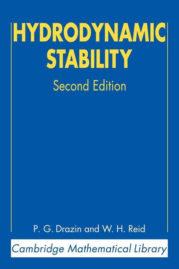 Hydrodynamic Stability als Buch