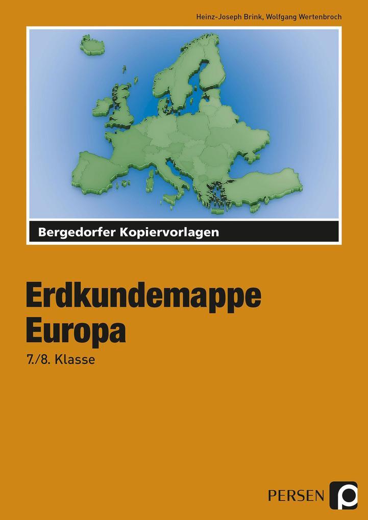 Erdkundemappe Europa als Buch