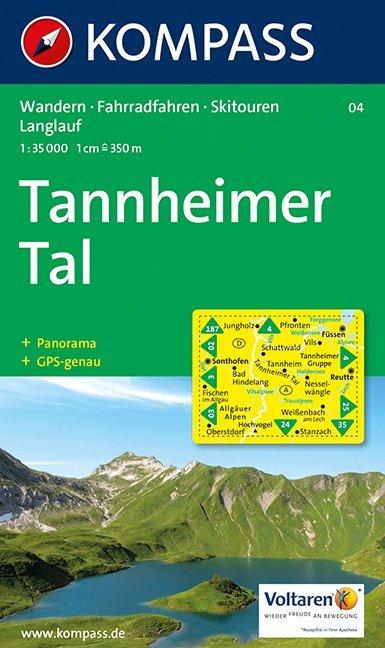 Tannheimer Tal 1 : 35 000 als Buch