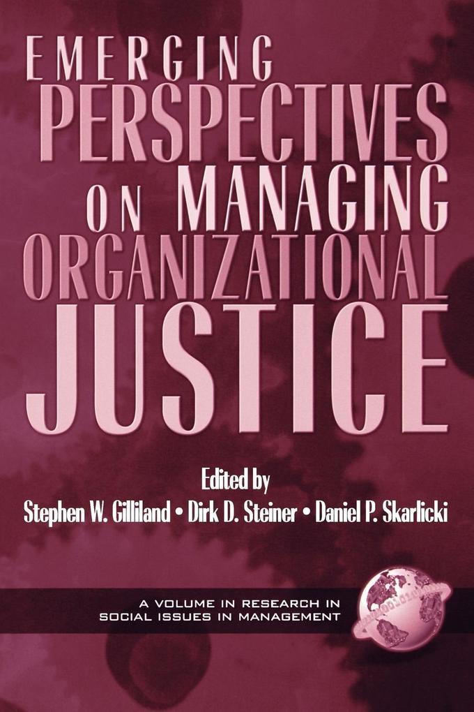 Emerging Perspectives on Managing Organizational Justice (PB) als Taschenbuch