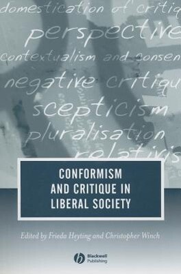 Conformism and Critique in Liberal Society als Taschenbuch
