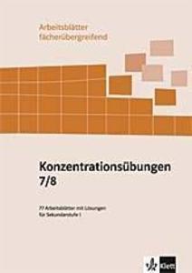 Konzentrationsübungen. 7./8. Schuljahr als Buch