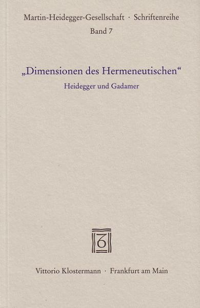 """""""Dimensionen des Hermeneutischen"""" als Buch"""