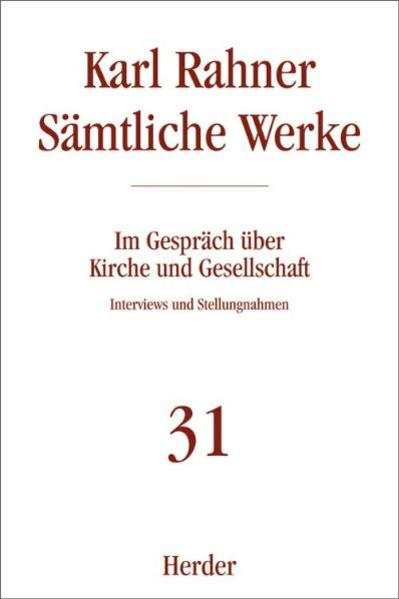 Sämtliche Werke 31. Im Gespräch über Kirche und Gesellschaft als Buch