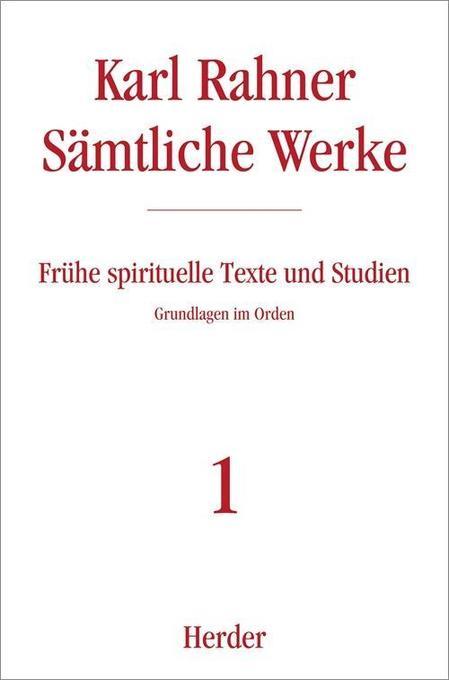Frühe spirituelle Texte und Studien als Buch