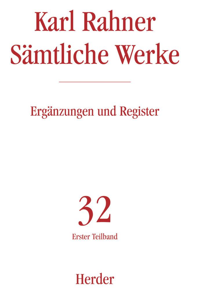 Sämtliche Werke 32. Ergänzungen und Register als Buch