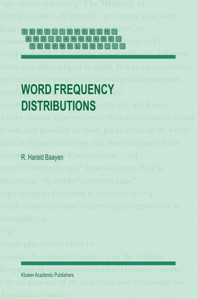 Word Frequency Distributions als Buch
