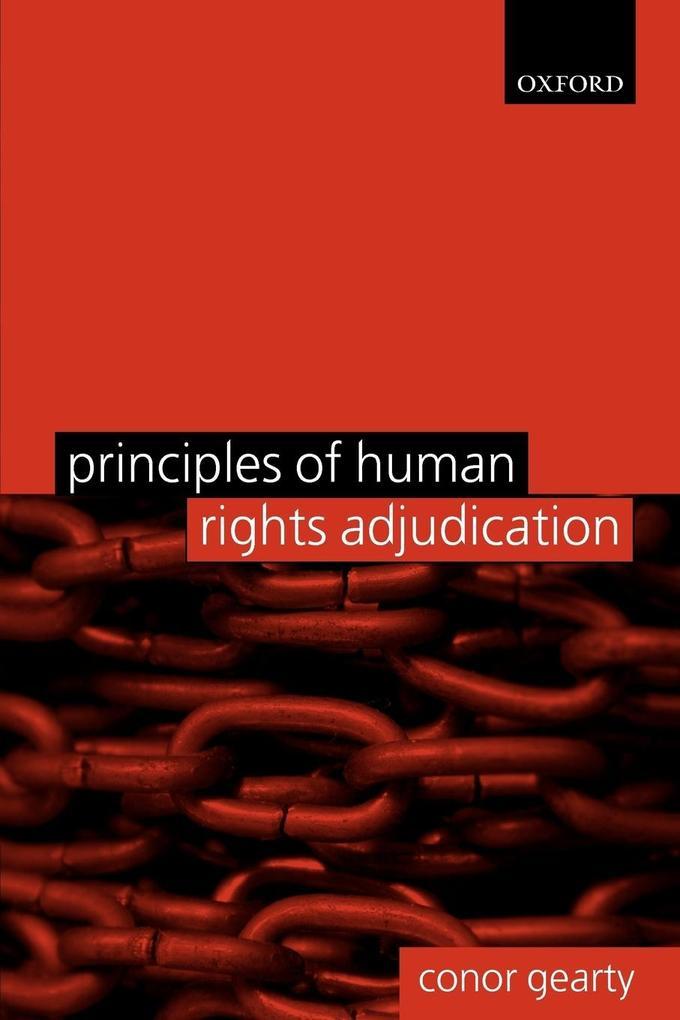 Principles of Human Rights Adjudication als Taschenbuch