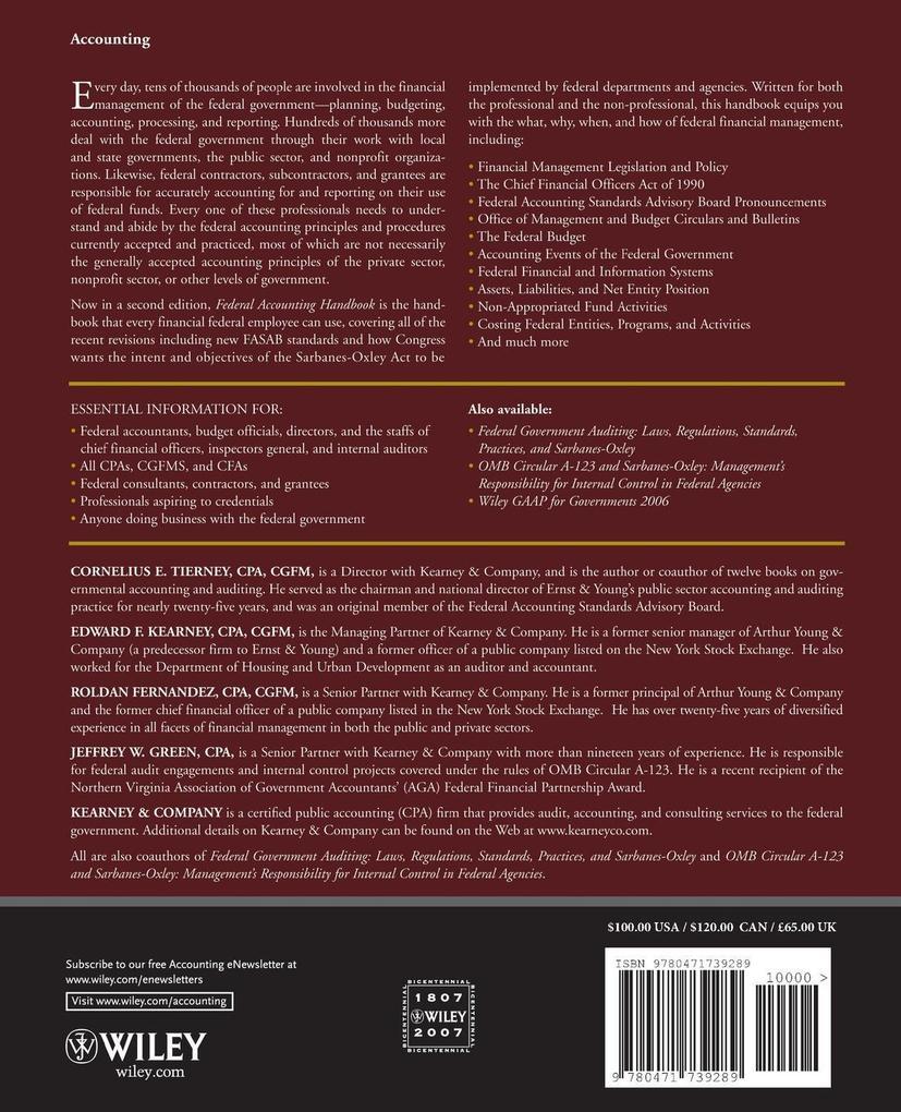 Federal Accounting Handbook 2e als Taschenbuch