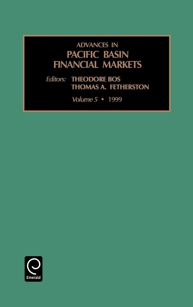 Advances in Pacific Basin Financial Markets, Volume 5 als Buch