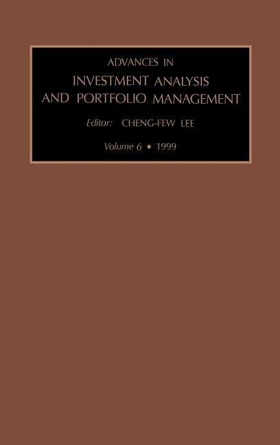Advances in Investment Analysis and Portfolio Management als Buch