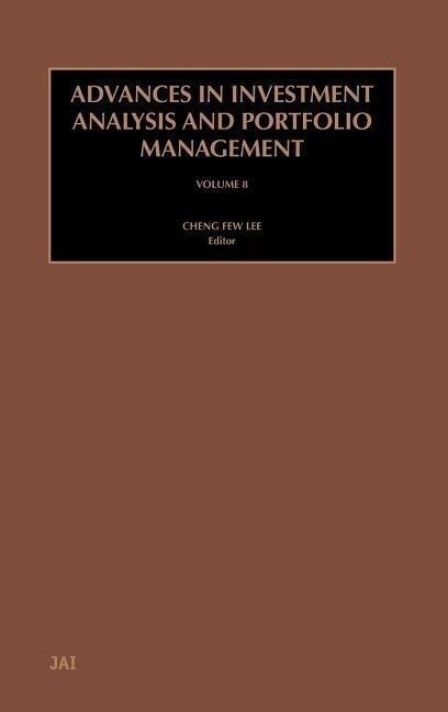 Advances in Investment Analysis and Portfolio Management als Buch