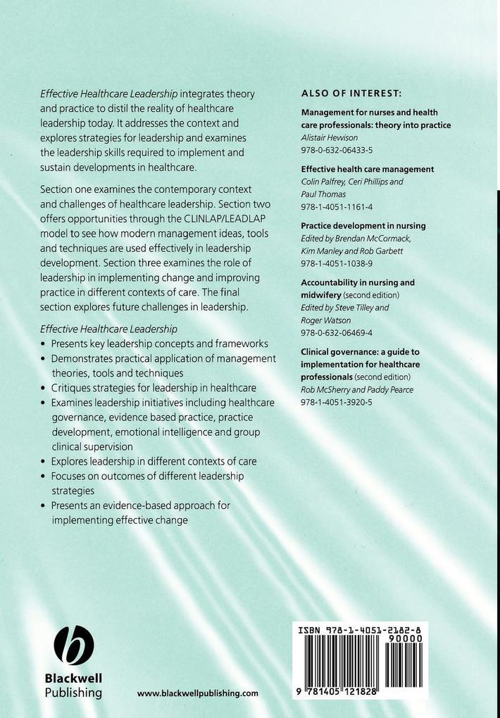 Effective Healthcare Leadership als Taschenbuch